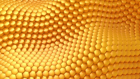 Hexagons Formed A Wave CG動画素材