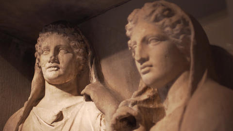 Ancient Greek Statues Footage