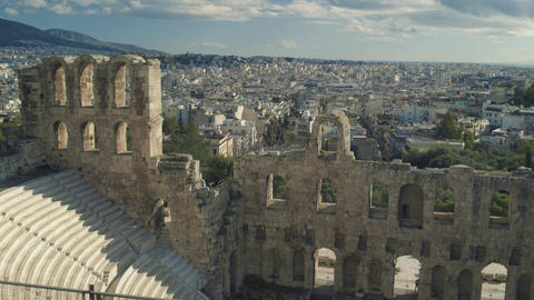 Theatre of Dionysus in Greece Footage