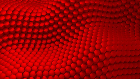 Hexagons Formed A Wave Animation