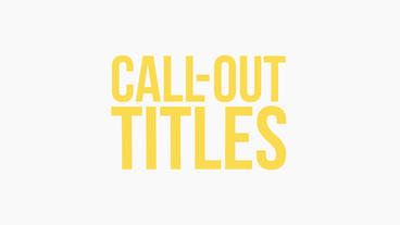 Call-Out Titles Premiere Pro Template