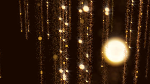 Golden Flicker Animated Background Glitter Gorgeous Wall Particles Animation
