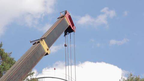 Boom of the Construction Crane Footage