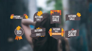 Autumn Sales Offer After Effectsテンプレート
