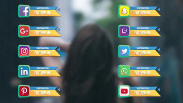 Social Geometric Links After Effects Template