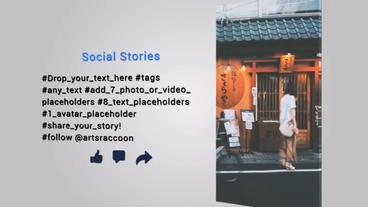 Social Stories Instagram & Facebook After Effectsテンプレート