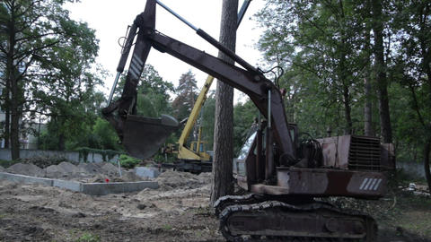 Excavator with Caterpillar Footage