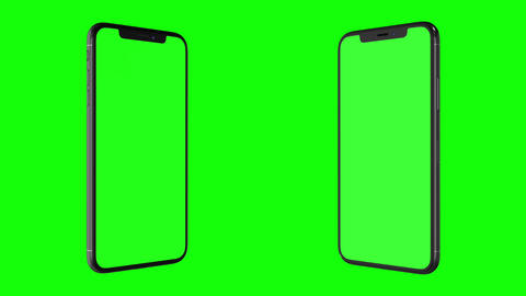Isolated Smart Phone with Green Screen CG動画素材