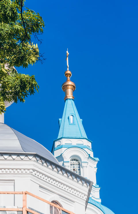 The dome of the cathedral on the island of Valaam Photo