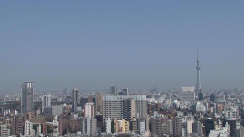 tokyo wideshot blue sky, TOKYO SKYTREE Footage
