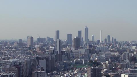 tokyo wideshot blue sky ビデオ