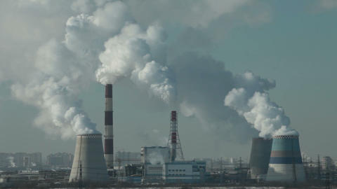 Smoking chimneys air pollution Footage