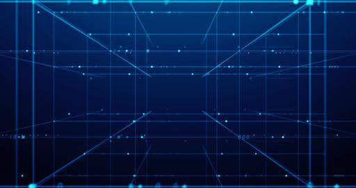 digital grid and number in virtual space seamless loop footage CG動画素材