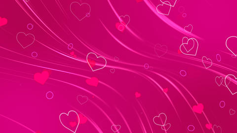 Hearts Romantic Background Loop Animación