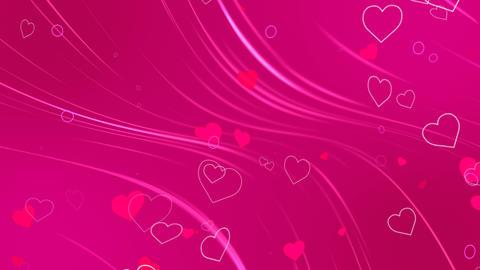 Hearts Romantic Background Loop Stock Video Footage
