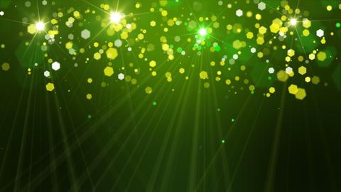 Yellow Green Bokeh Loop Stock Video Footage