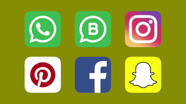 Social Media Icons: Animated Icons Pack for Apple Motion 5 and Final Cut Pro X Plantilla de Apple Motion