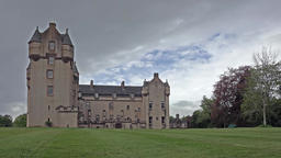 TURRIFF, ABERDEENSHIRE/SCOTLAND JULY 23 2015: Clouds moving over Fyvie castle - Footage
