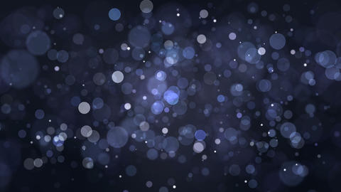 Blue Particles Bokeh Background Loop Animation