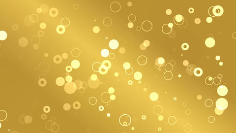 Gold Circle Background Loop Animation
