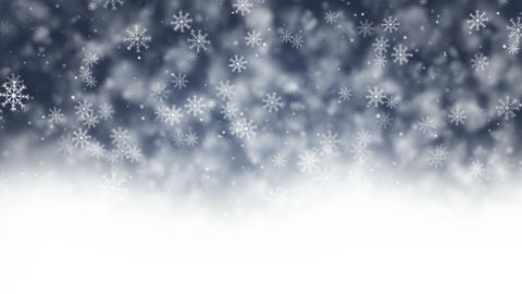 Snowflakes winter background loop Animation