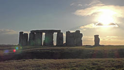 Clouds moving over Stonehenge, Wiltshire England Footage