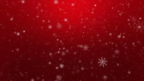 Snowflakes on Red Background Loop GIF