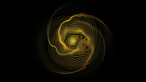 Abstract Space Waves Loop Animation