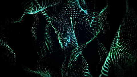 Green Glowing Particles Background GIF