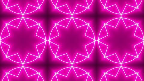 Pink Neon Kaleidoscope Background GIF