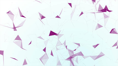 Polygons And Dots Purple Background Animation
