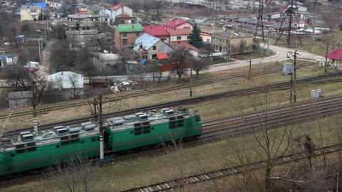 Railway train wagon railroad 4k Footage