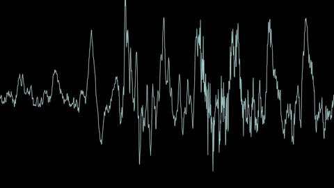 Equalizer Audio Spectrum Balck And White Dynamic Waves Background CG動画