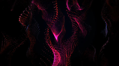 Red Particles Background Animation