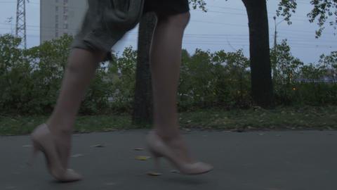 Woman Running Away Image