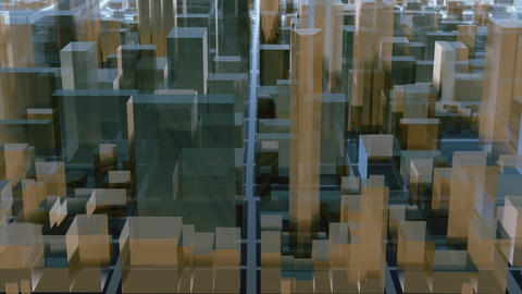 Abstract 3D city downtown architectural background 画像
