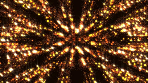 Golden Background Glitter Dust Animated Gorgeous Wall Flicker Particles Animation