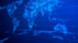Digital World Map Background 01 CG動画素材