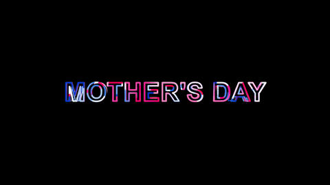 Letters are collected in celebration MOTHER'S DAY, then scattered into strips Animation