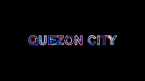 Letters are collected in Big city QUEZON CITY, then scattered into strips. Alpha Animation
