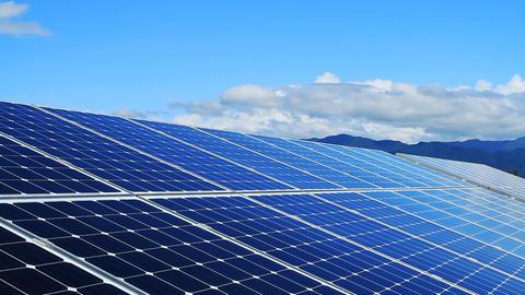 Solar panels.Time lapse GIF