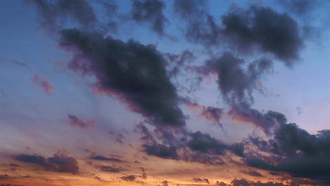 beautiful sunset, time-lapse, stormy clouds 4k Footage