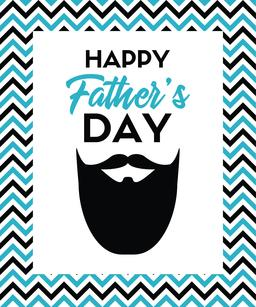 Happy father's day greeting card with beard ベクター