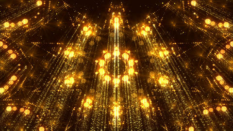 Gorgeous Background Flicker Particles Golden Animated Glitter Flares Animation