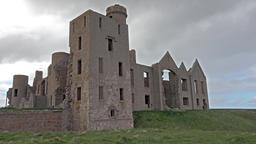 Slains Castle time lapse ビデオ