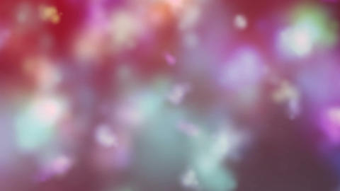 Colored Smoke Particles Flowing Sky Abstract Background Animation