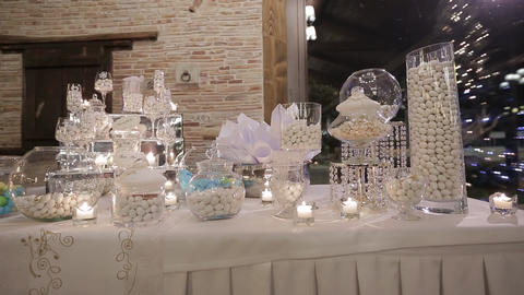delicious Candy bar at a wedding Archivo