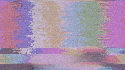Color Bars Glitch Retro Background CG動画素材