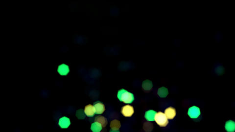 Shining Flickering Colored Particles On Black Background Animation