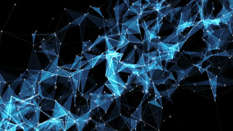 Abstract Motion Background - Digital Binary Polygon Plexus Data Networks CG動画素材